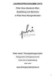 Jahresprogramm 2012 PDF Download - Peter Hess Akademie Wien