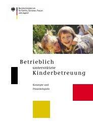 Betrieblich unterstützte Kinderbetreuung - Konzepte und ...