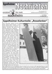 13. Woche - Eppelheim