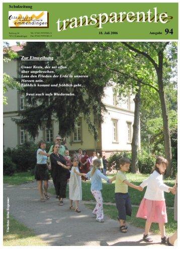 Termine und Ferien im Schuljahr 2006/2007 - Integrative ...