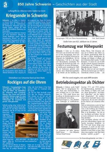 Kriegsende in Schwerin - Hauspost