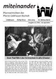 Pfarrnachrichten miteinander Nr. 15 - Jahr 2011 - Katholische ...