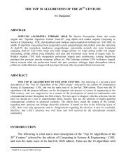 THE TOP 10 ALGORITHMS OF THE 20TH CENTURY M ... - Batan