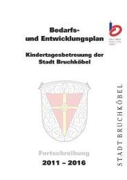 Bedarfs- und Entwicklungsplan Fortschreibung ... - Stadt Bruchköbel