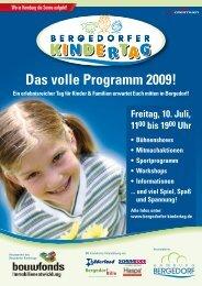 Das volle Programm 2009! - Auf zum Bergedorfer Kindertag!