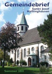 Gemeindebrief - Unsere Gemeinde St. Josef