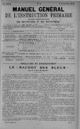 MANUEL GENERAL DE L'INSTRUCTION PRIMAIRE - INRP