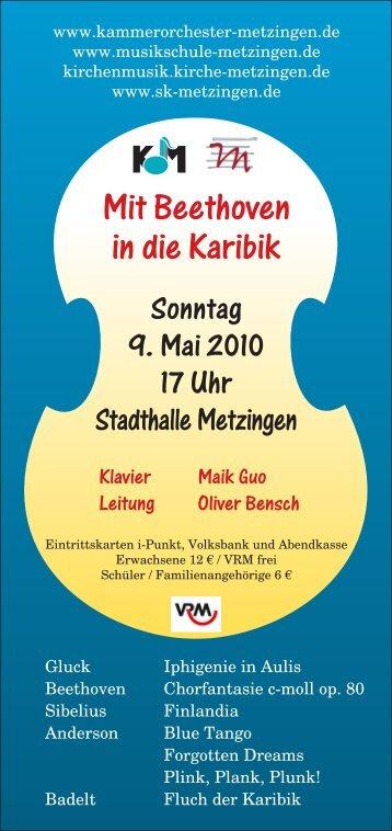 Flyer - Kammerorchester Metzingen