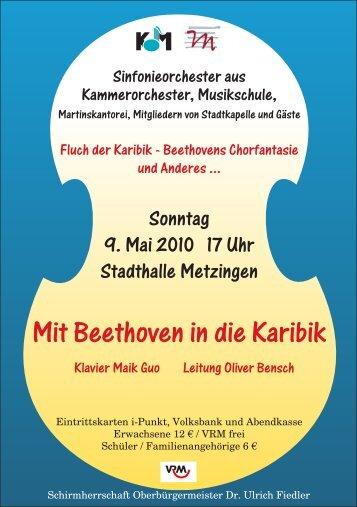Programmheft - Kammerorchester Metzingen
