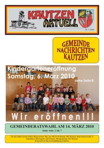 Ausgabe 01/2010 - Marktgemeinde Kautzen