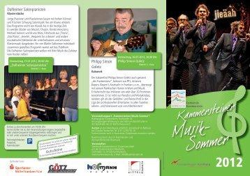 finden Sie den Flyer zum Kammersteiner Musiksommer - Gemeinde ...