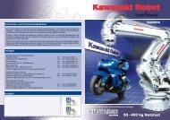 50 – 400 kg Nutzlast - Kawasaki Robotics