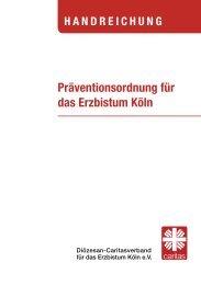 Präventionsordnung für das Erzbistum Köln - Ehrenamt