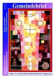 März/April/Mai 2008 - Evangelische Kirchengemeinde Krombach