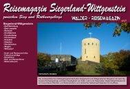 Reisemagazin Siegerland-Wittgenstein - Reisetipps-Europa