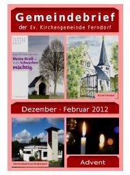 Gemeindebrief - Evangelische Kirchengemeinde Ferndorf