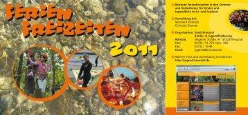 Betreute Ferienfreizeiten in den Sommer- und ... - Kreuztal