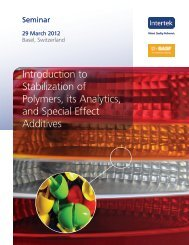 Introduction to Stabilization of Polymers, its ... - Congress-Plus