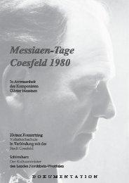 """Messiaen – Tage Coesfeld"" 1980 - rudolf-innig.de"