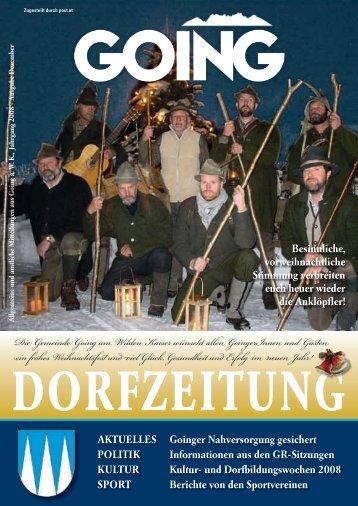 Die Gemeinde Going am Wilden Kaiser wünscht allen GoingerInnen ...