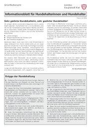 Informationsblatt für Hundehalterinnen und Hundehalter