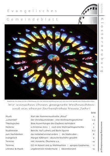 Der Christbaumständer - evangelische gemeinde klosterneuburg
