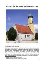 Kirche St. Andreas, Geibenstetten - Neustadt an der Donau
