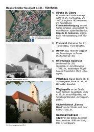 1) Kirche St. Georg 4) Ehemaliges Gasthaus Denkmal Hadrians ...