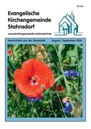 GemeindeBrief für August/September - Ev. Kirchengemeinde ...