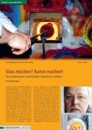 Glas machen? Kunst machen! - Schöner Bayerischer Wald