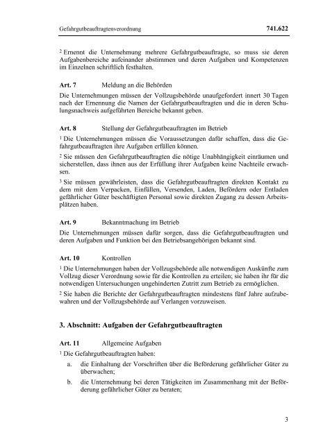 GGBV Verordnung über Gefahrgutbeauftragte für die ... - B-Safe