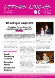 Heft 4/2002 - Offene Kirche Württemberg