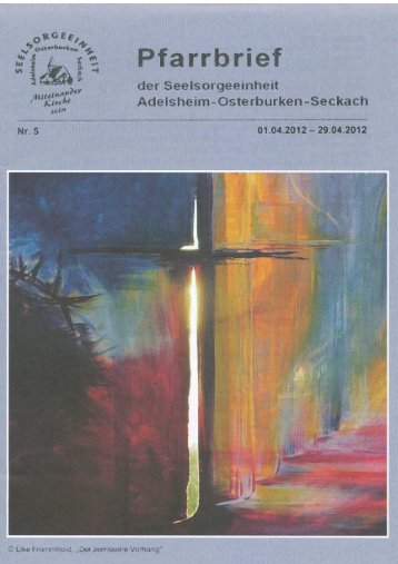 Messintentionen - Seelsorgeeinheit Adelsheim-Osterburken-Seckach