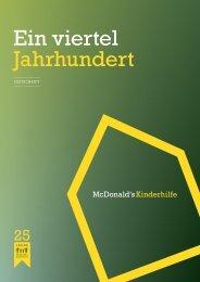 Ein viertel Jahrhundert - McDonald's Kinderhilfe Stiftung