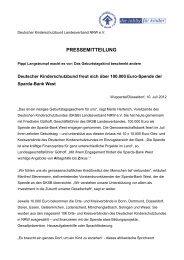 PRESSEMITTEILUNG - Kinderschutzbund NRW e.V.