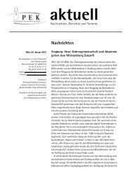 PEK Aktuell vom 23. Januar 2012 - Tagungshäuser im Erzbistum Köln