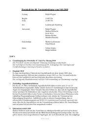 Protokoll der 48. Vorstandssitzung vom 9.03.2010