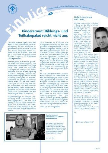 Einblick 06/11 (PDF/318 KB) - Kinderschutzbundes