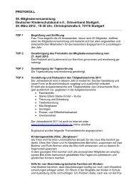 Mitgliederversammlung 2012 - Kinderschutzbund Ortsverband ...