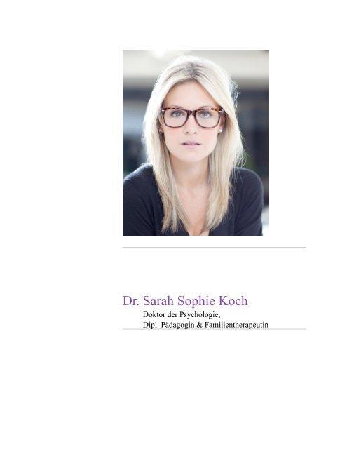 Dr Sarah Sophie Koch Lebenslauf