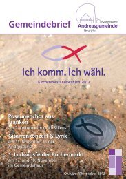 Adventsmusik - Andreasgemeinde - Telebus