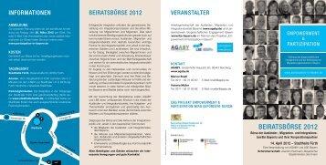 Programmflyer Beiratsbörse (pdf, 910 KB) - agaby