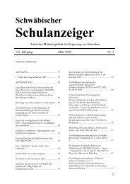 Schulanzeiger - Regierung von Schwaben - Bayern
