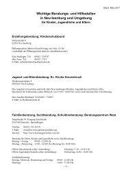 Wichtige Beratungs- und Hilfestellen in Neu-Isenburg und Umgebung