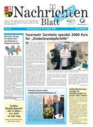 Nachrichtenblatt Nr. 1/2 vom 10. Januar 2013 - Verbandsgemeinde ...