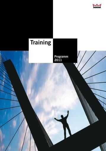 Infos rund ums DORMA Training