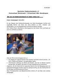 Deutscher Kinderschutzbund e.V. Kreisverband Westerwald ...