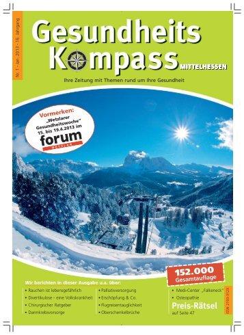 Ausgabe 1/2013 - Gesundheitskompass Mittelhessen