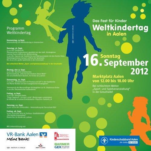 Weltkindertag Aalen - Deutscher Kinderschutzbund - Ortsverband ...