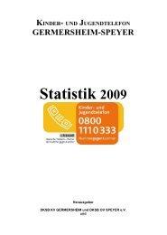 Statistik 2009 - Deutscher Kinderschutzbund Kreisverband ...